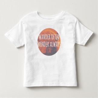 Wander Often, Wonder Always Toddler T-shirt