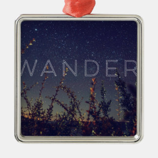 Wander Under The African Sky Silver-Colored Square Ornament
