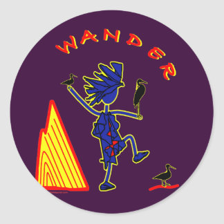 Wander Whimsy Classic Round Sticker
