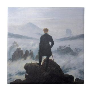 Wanderer above the Sea of Fog Ceramic Tile