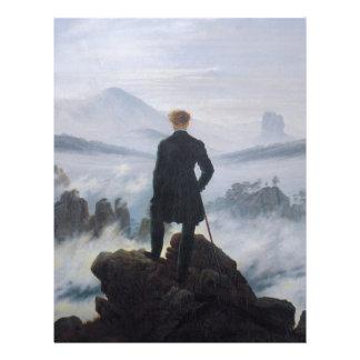 Wanderer above the Sea of Fog Customized Letterhead