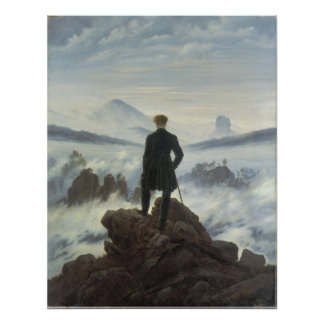Wanderer Above the Sea of Fog - Large Poster