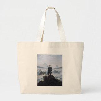 Wanderer above the Sea of Fog Large Tote Bag