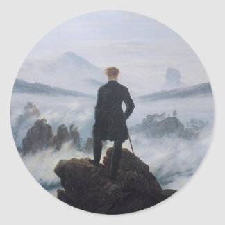 Wanderer above the Sea of Fog Round Sticker