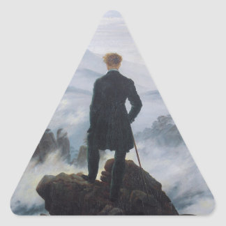 Wanderer above the Sea of Fog Triangle Sticker