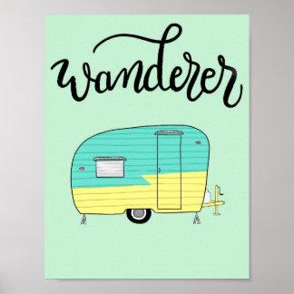 Wanderer Vintage Trailer Poster