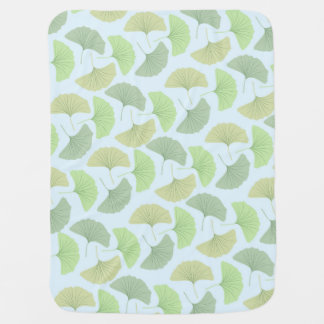 Wandering Green Gingko Fleece Baby Blanket