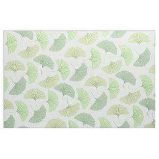 Wandering Green Ginkgo Fabric