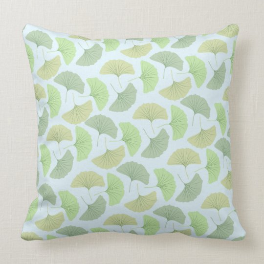 Wandering Green Ginkgo Pillow