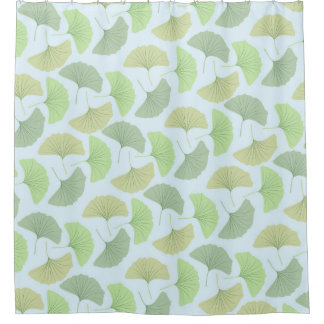 Wandering Green Ginkgo Shower Curtain
