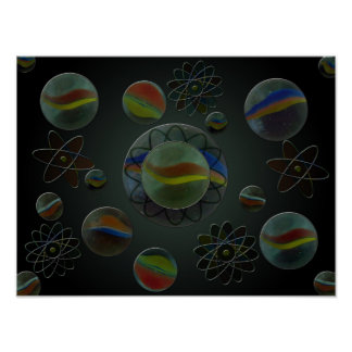 Wandering Marbles Poster