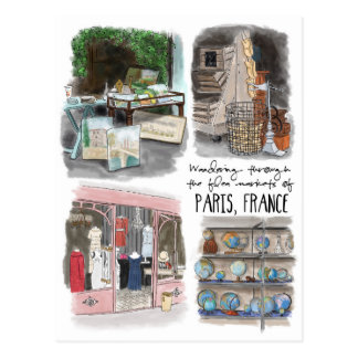 Wandering the Flea Markets of Paris - Postcard