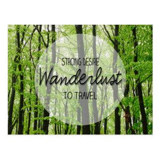 Wanderlust Forest Quote Postcard