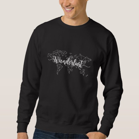 Wanderlust geometric world map sweatshirt