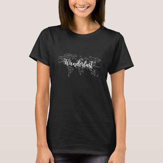 Wanderlust geometric world map T-Shirt