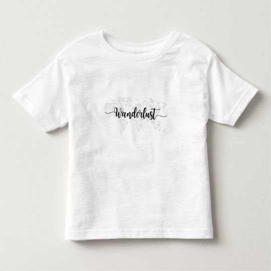 Wanderlust geometric world map toddler t-shirt
