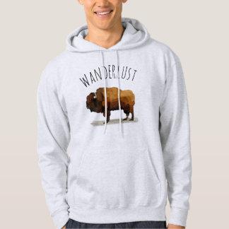 WANDERLUST Hoodie: American Buffalo (Bison) Hoodie