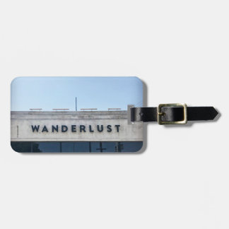 Wanderlust Luggage Tag with Strap