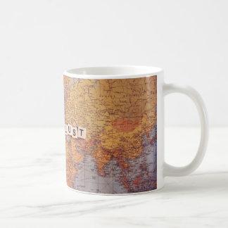 wanderlust map coffee mug