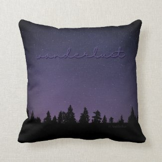 Wanderlust (Night Sky) Pillow