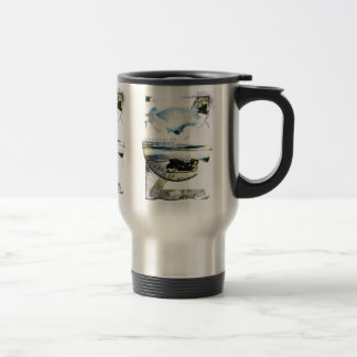Wanderlust Ocean Motorcycle Beach Escape, Travel Mug
