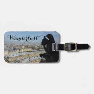 Wanderlust (Paris Gargoyle & View) Bag Tag
