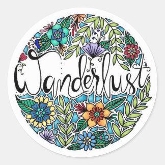 Wanderlust Round Sticker