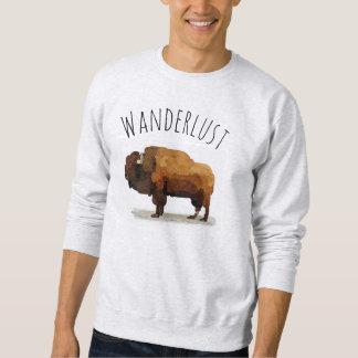 WANDERLUST Sweatshirt: American Buffalo (Bison) Sweatshirt