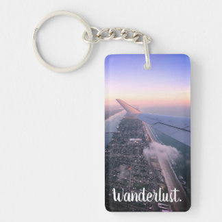 Wanderlust, Travel, Explore Custom Keychain