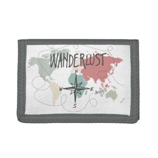 Wanderlust Tri-fold Wallets