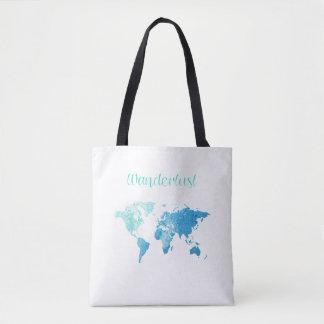 Wanderlust Watercolor Tote Bag