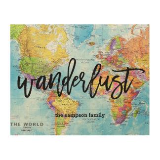 Wanderlust World Map Wall Art - Custom