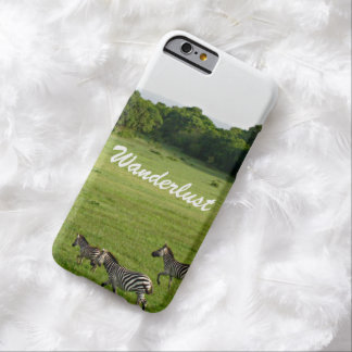 Wanderlust zebra barely there iPhone 6 case