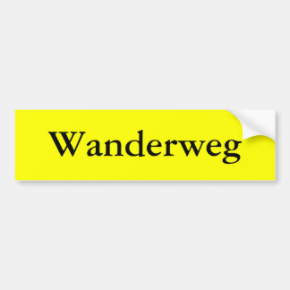 Wanderweg Bumper Sticker