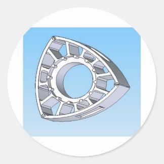 Wankel Rotor Round Stickers