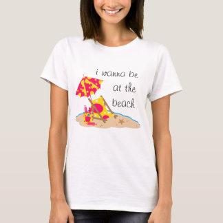 Wanna Be at the Beach Hot Pink T-Shirt