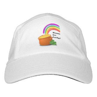Wanna Get Lucky St Patricks Day Shamrock Rainbow Hat
