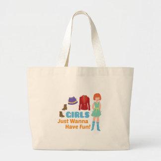 Wanna Have Fun Large Tote Bag