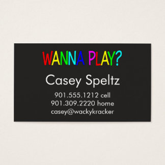 Wanna Play Business Cards