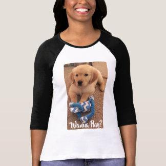 Wanna Play with HenryZ The Golden Retriever Puppy! T-Shirt