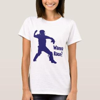 Wanna Race, blue T-Shirt