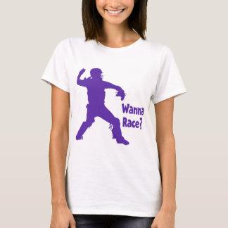 Wanna Race, purple T-Shirt