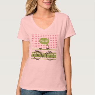 Wanna Ride? Trendy Retro Bicycle pink/green T-Shirt