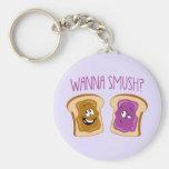 Wanna Smush? Basic Round Button Keychain