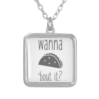 Wanna Taco Bout It Silver Plated Necklace