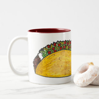 Wanna Talk About It? Funny Taco Mexican Food Mug