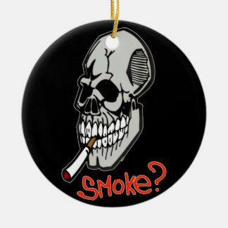 Want A Smoke Ceramic Ornament