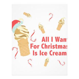 Want Ice Cream Letterhead Template