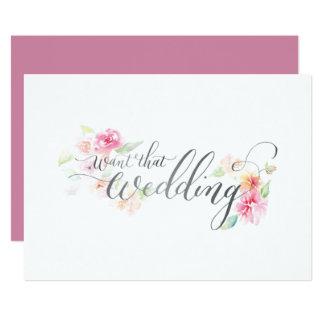Want that wedding card