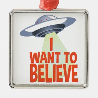 Want To Believe Metal Ornament